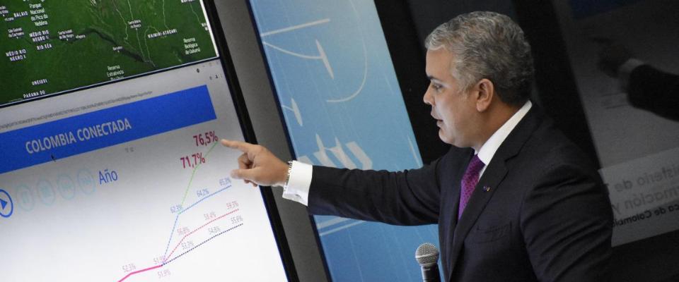 Colombia estaría por encima del 70 % de conectividad en 2022': Presidente  Iván Duque